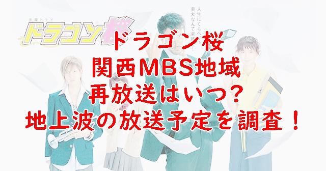 ドラゴン桜の再放送大阪MBSはいつ?2021年地上波放送予定を調査!