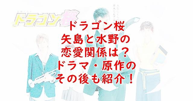 ドラゴン桜1矢島と水野の恋愛はその後どうなったか紹介!