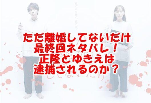 ただ離婚してないだけ原作最終回結末ネタバレ!正隆とゆきえは逮捕されるのか?